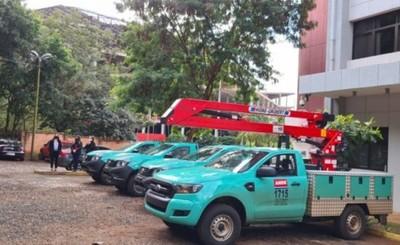 Nueva flota de vehículos para oficinas regionales de ANDE