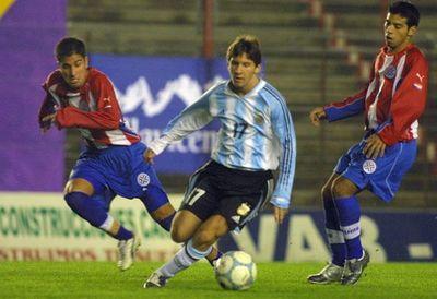 Improvisado juego para que debute Messi
