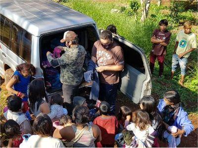 Comunidades indígenas de Presidente Franco reciben ayuda solidaria