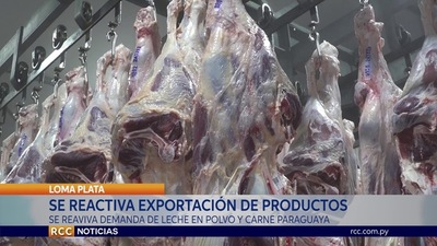 CHORTITZER:  SE REACTIVA EXPORTACIÓN DE PRODUCCIÓN NACIONAL