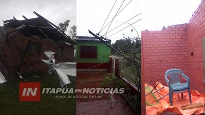 VARIOS DISTRITOS AFECTADOS POR EL TEMPORAL EN ITAPÚA.