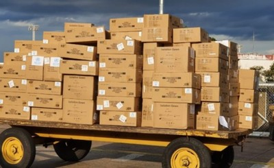 Avión con 25 toneladas de equipos de protección llegó al país