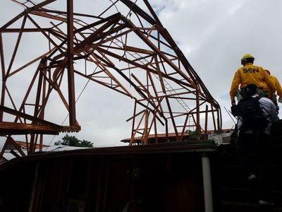 Tormenta dejó numerosos destrozos en Central y otras localidades