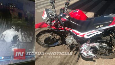 HURTAN MOTOCICLETA DE UN INQUILINATO EN ENCARNACIÓN.