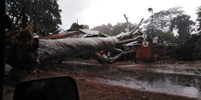 La SEN asiste a familias de Asunción, Central, Itapuá y Alto Paraná tras fuerte temporal