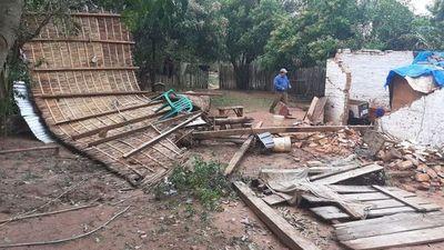 Tras temporal, reportan varios daños en construcciones de Guairá