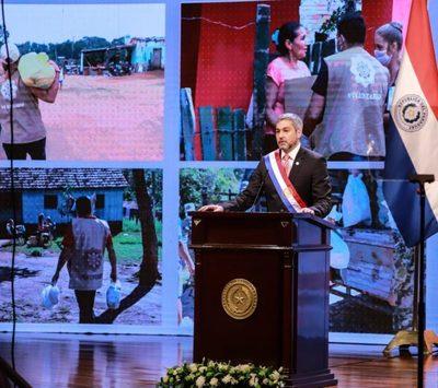 Abdo resalta acciones para hacer frente a la pandemia y reprocha baja ejecución presupuestaria de Salud