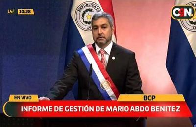 Mario Abdo presenta segundo informe presidencial en forma virtual