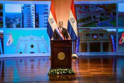 Mario Abdo Benítez presentó su segundo informe de gestión · Radio Monumental 1080 AM