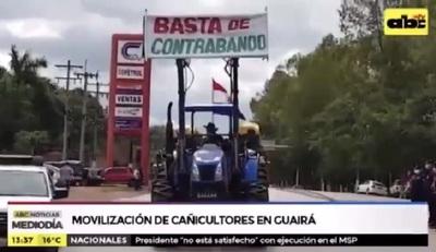 Cañicultores protestan contra el contrabando y exigen ayuda del Gobierno