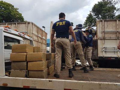 Decomisaron en la frontera con Paraguay: 51 toneladas de drogas y 18 millones de gruesa de cigarrillos.