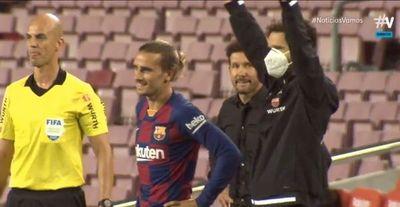 El gesto de Simeone por los pocos minutos de Griezzman en el Barcelona