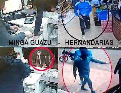 Dúo de delincuentes que hizo su golpe  en Hernandarias ahora atraca en Minga – Diario TNPRESS