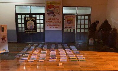 Marinos incautan drogas que iban a ser  traficados al Brasil por el río Paraná – Diario TNPRESS