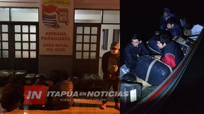 ALTO PARANÁ: NAVALES ATRAPARON A PERSONAS EN CRUCE IRREGULAR HACIA BRASIL
