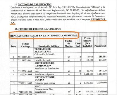 """En la Intendencia de CDE """"REPARAN"""" cielo raso con PISO PORCELANATO y EXTRACTOR de COCINA"""