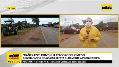 Cañicultores de Caaguazú cierran la ruta PY02