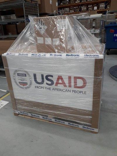 Estados Unidos prepara primer envío de respiradores