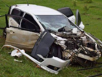 Funcionario de Petropar fallece en violento accidente de tránsito