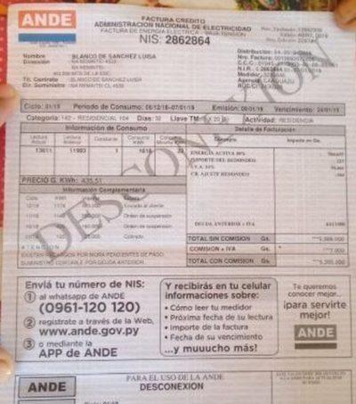 ANDE y Essap exhoneran  facturas por julio y agosto
