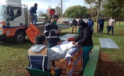Más de 700 familias son asistidas en Presidente Franco tras temporal
