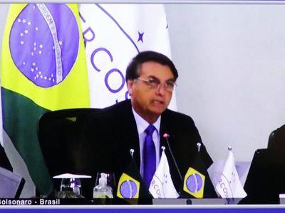 """Bolsonaro: Mercosur tiene un """"gran desafío"""" pospandemia"""