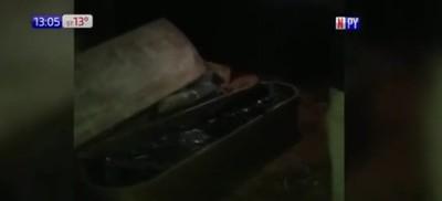 Luque: Encuentran cuerpo dentro de un ataúd en una fábrica