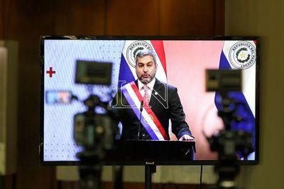 Informe de gestión presentado por Mario Abdo Benítez