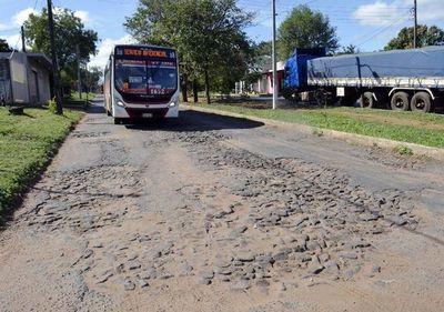 Desastrosas vías en San Antonio
