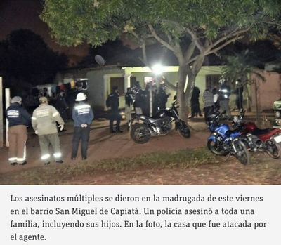 Tragedia en Capiatá: Policía mata a sus hijos, sus suegros y su cuñada