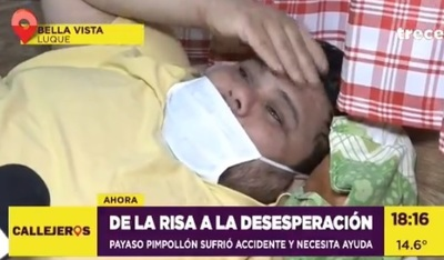 Organizan pollada solidaria para payaso víctima de accidente