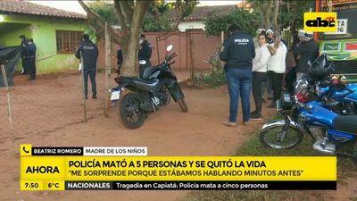 """Tragedia en Capiatá: Agente policial """"alucinaba"""", según madre de los niños asesinados"""