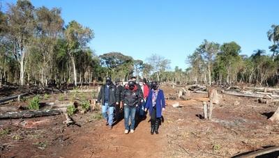 Fiscales constatan deforestación y anuncian imputaciones