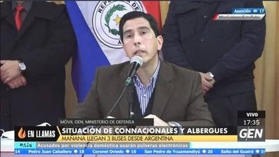 HOY / Ministro Federico González, en conferencia de prensa, sobre la situación de connacionales y abergues