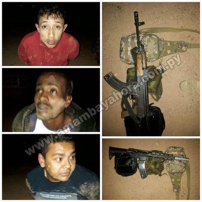Detienen a tres brasileños armados con fusiles en Bella Vista Norte
