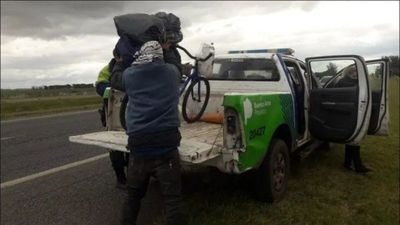 PARAGUAYO PEDALEÓ CASI 2.000 KM. PARA VER EL MAR PERO LO DETUVIERON EN UN CONTROL