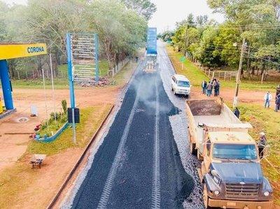 Inicia el asfaltado de 14,3 km en la compañía Boquerón de Caazapá
