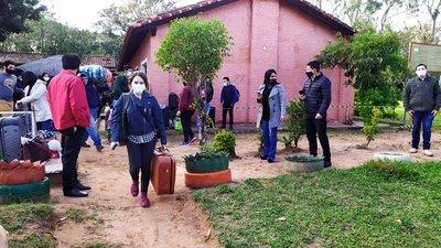 30 connacionales  son liberados en Guairá luego de cumplir con la cuarentena