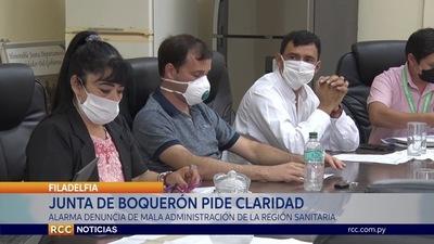 JUNTA DE BOQUERÓN PIDE CLARIDAD EN LA REGIÓN SANITARIA