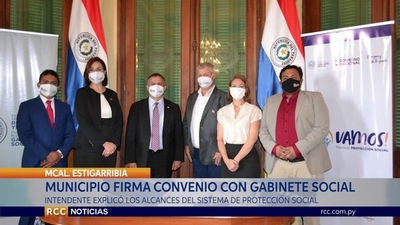 MUNICIPALIDAD DE MARISCAL ESTIGARRIBIA FIRMA CONVENIO CON GABINETE SOCIAL
