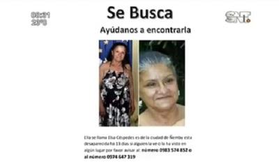Buscan a mujer desaparecida en Ñemby