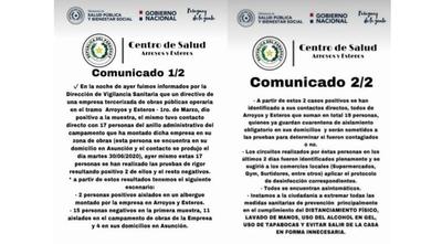 HOY / Confirman casos positivos de COVID-19 en Arroyos y Esteros: más de 30 personas van cuarentena