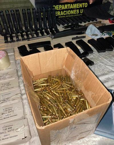 Armas incautadas en Luque eran para organizaciones criminales de frontera