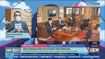 HOY / Senador Pedro Santacruz dijo que el objetivo es recuperar los sitios históricos del país y habilitar para las visitas de la ciudadanía
