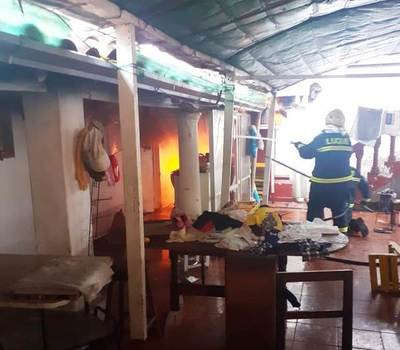 Incendio causa susto en el centro de Luque • Luque Noticias