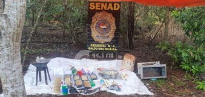 Detectan laboratorio de cocaína en plena reserva de Itaipú