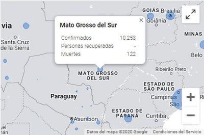 Brasil: Mato Grosso do Sul suma 122 fallecidos por coronavirus y 10.253 casos confirmados