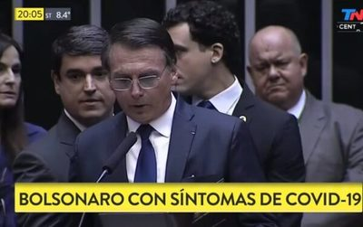 Bolsonaro sufre síntomas de coronavirus y espera resultados