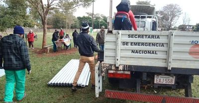 SEN asistió a casi 1.000 familias  tras el temporal en Pdte. Franco – Diario TNPRESS