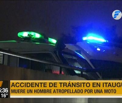 Hombre de 76 años fallece tras ser impactado por una motocicleta